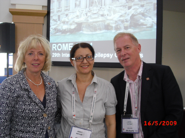 Dr Janet Mifsud with Ms Susanne Lund and Mr Mike Glynn