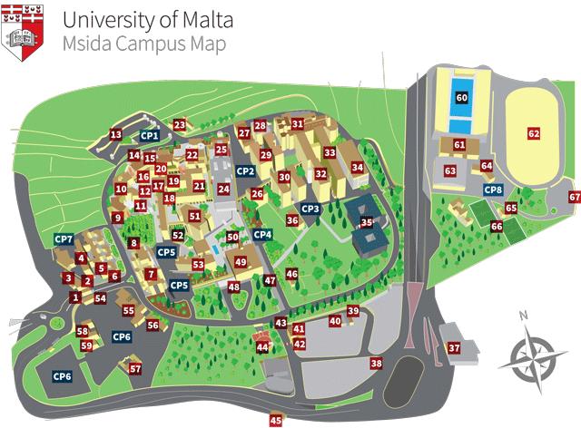 Campus Map University Of Malta - Us engineering university map