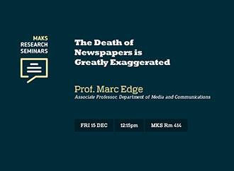 MaKS Seminar 15 December