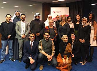 Kuwaiti alumni with officials from the University of Malta