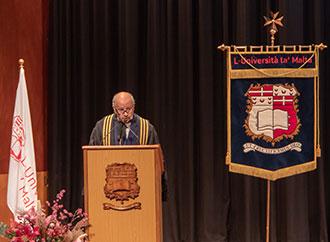Um Rector, Prof. Alfred J Vella, opening ceremony 2019