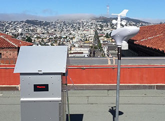 Equipment to measure tobacco smoke component to air pollution at a global level