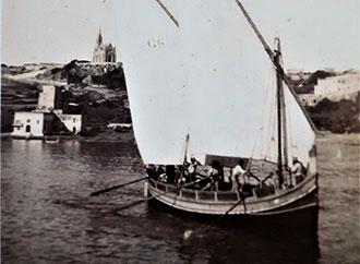 Maltese boat in the sea