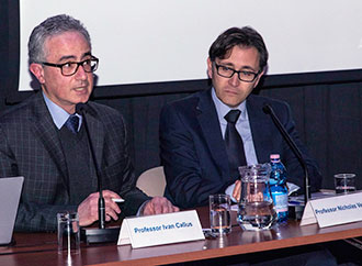 Prof. Ivan Callus and Prof. Nicholas Vella and the audience at the symposium