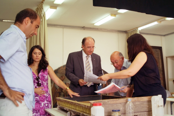 Banif Bank CEO Joaqim Silva Pinto visits restoration project