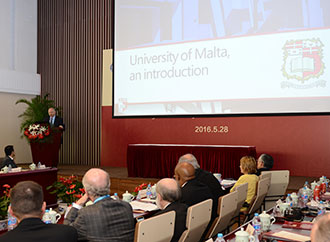 Rector-Elect at 60th Anniversary Celebrations of Shanghai University of Traditional Chinese Medicine