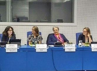Marceline Naudi at the UN Commission session