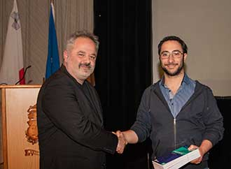 Mr Christ Xerri with Mr Jonathan Farrugia
