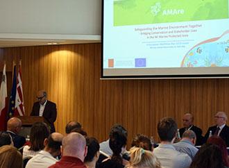 Hon Hose Herrera addressing the participants