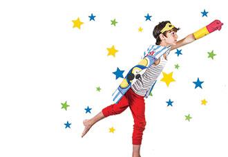 Boy and stars
