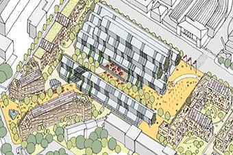 An urban plan sketch
