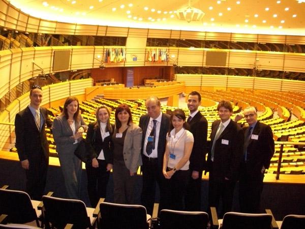 Student interpreters on familiarisation visit to European Union Institutions