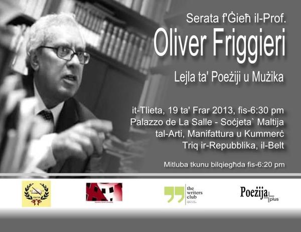 Serata Oliver Friggieri