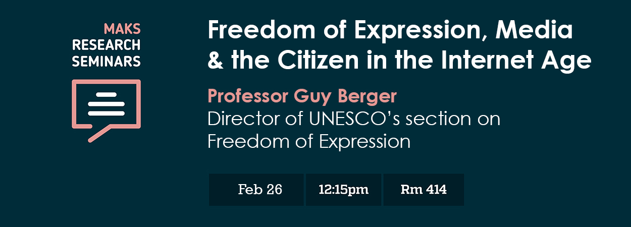 Freedom of Expression, media and the citizen in the ...