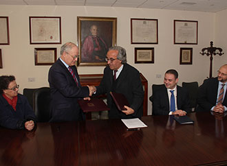 Signing of Agreement between University of Malta and Heritage Malta