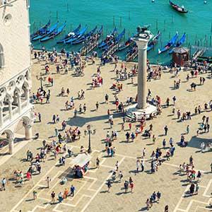 Tourists at Venice