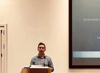 Dr David Jeffrey giving talk