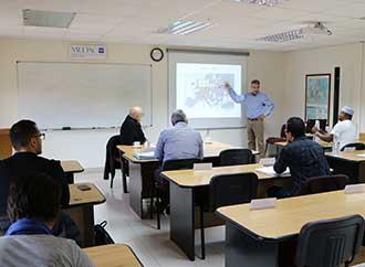 Professor Alejandro Lorca and Dr Gonzalo Escribano, who deliver a module on international economics in the Mediterranean
