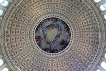 Church dome from the inside