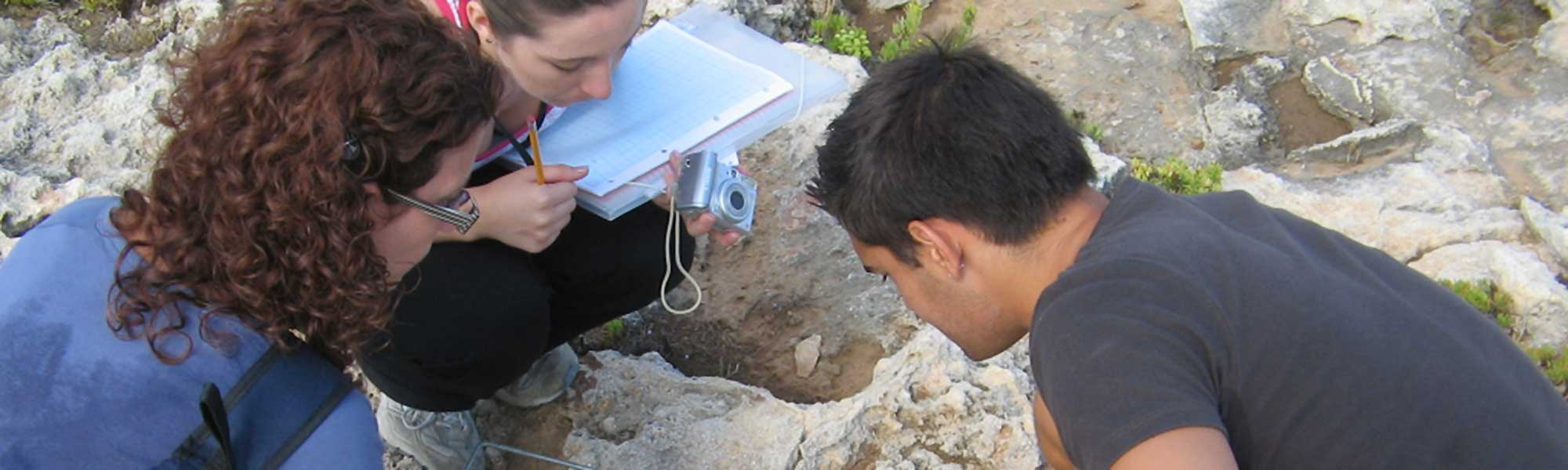 Students during fieldwork