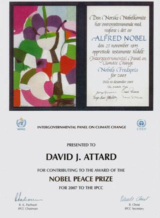 David Attard contributes to the Nobel Peace Prize