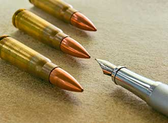Bullets and pen