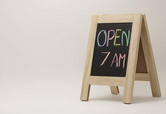 Open at 7 on blackboard