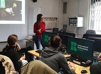 Dr Giselle Spiteri Miggiani delivering a lecture at Roehampton