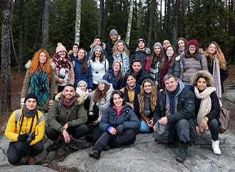 Group photo: Biology students in Sotckholm