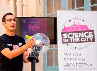 Dr Anthony Galea at the launch of Science in the City 2019