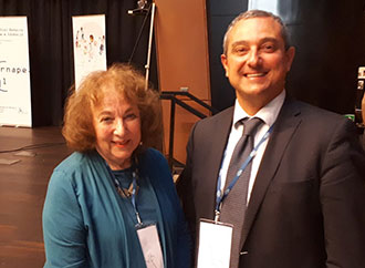 Professor Carmel Borg with Professor Joyce Epstein, at the ERNAPE Conference.
