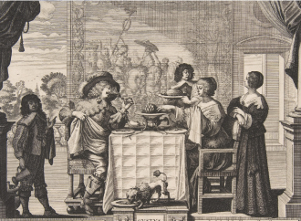 Painting - a banquet