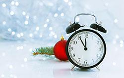 Clock and Christmas theme