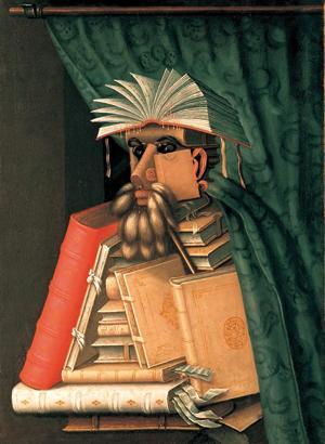The Librarian, Giuseppe Arcimboldo, c. 1562-1570