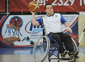 """""""Athletes with disabilities"""" or """"disabled people making sport"""""""