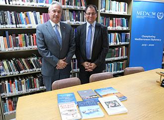H.E. Ambassador of Greece, Mr Dimitrios G. Tsoungas and Prof. Stephen Calleya