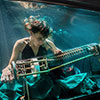 Playing an instrument underwater