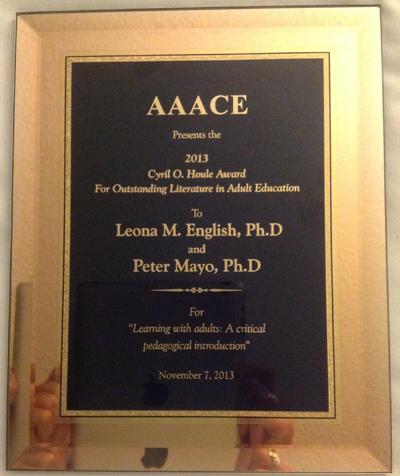Award to Peter Mayo