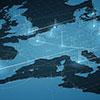 Europe map big data visualization