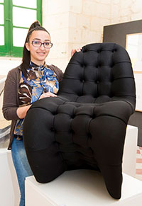 Sashanne and her chair