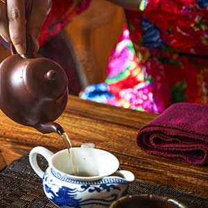 Serving tea in China