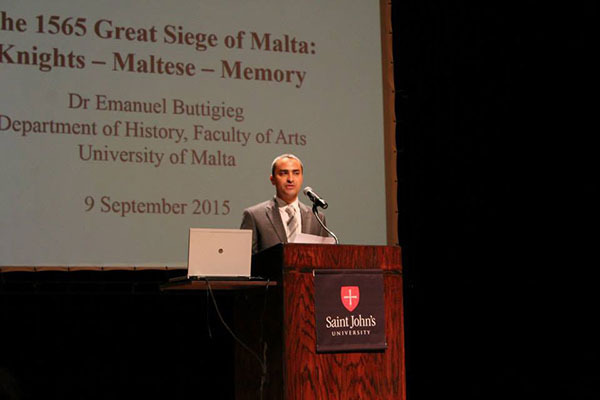 Dr Emanuel Buttigieg, Senior Lecturer at the Department of History, Faculty of Arts