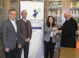 Alf Mizzi Foundation Award