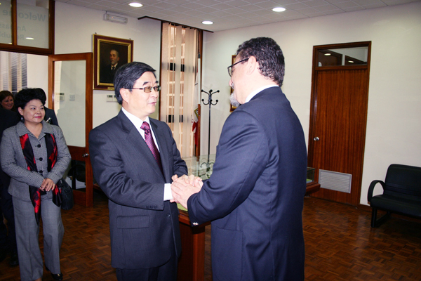 The Ambassador of the People's Republic of China on First Visit to University of Malta