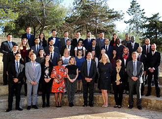 Group photo - MEDAC students and staff