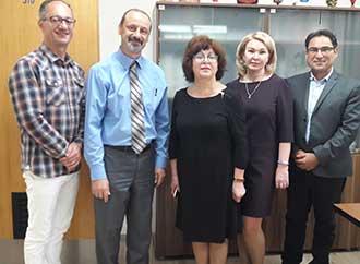 Group photo - Russian academics meet with Pro-Rector Professor Godfrey Baldacchino